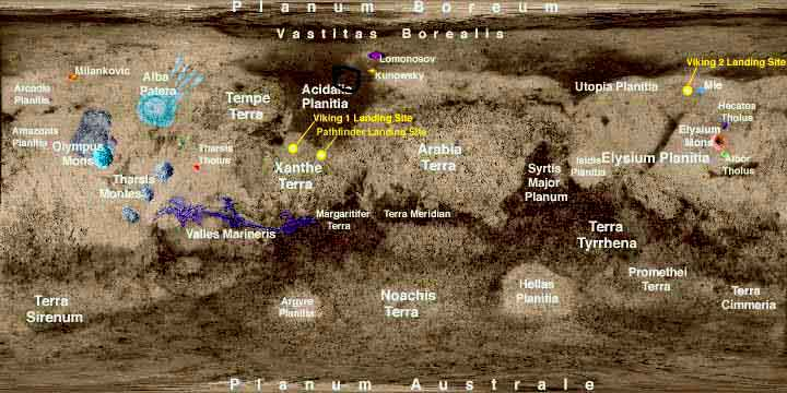 Search For The Seven Cities Of Mars Acidalia Planitia